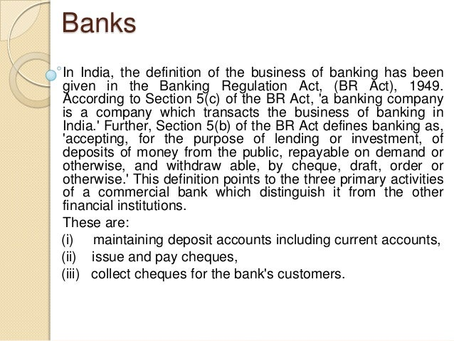 the role of banks in an You may not realize it, but there are different types of banks and not all banks are authorized to do the same things in this lesson, you'll learn.