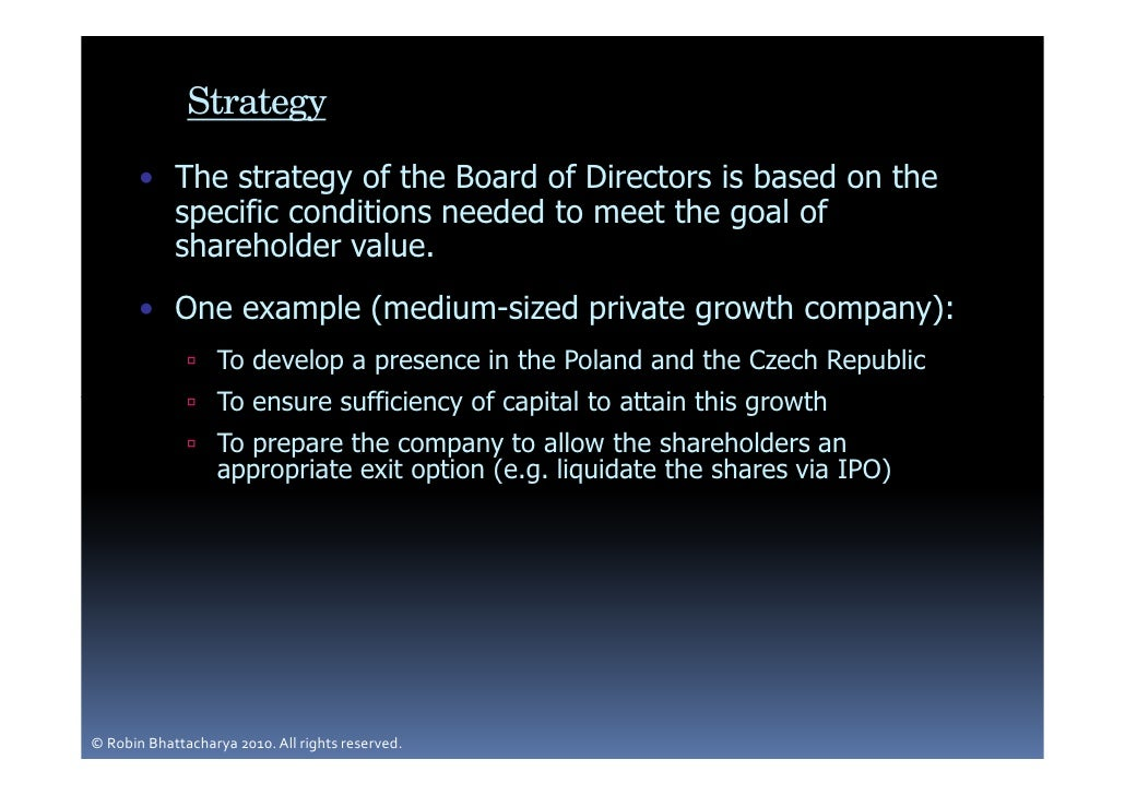 the board of directors A board of directors is a group of persons elected by the shareholders of a corporation to govern and manage the affairs of the company directors are either named in the articles of incorporation or.