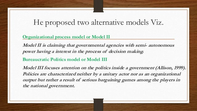 organizational process model foreign policy