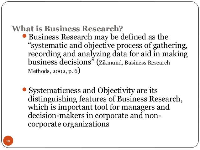 importance of research in business decision making