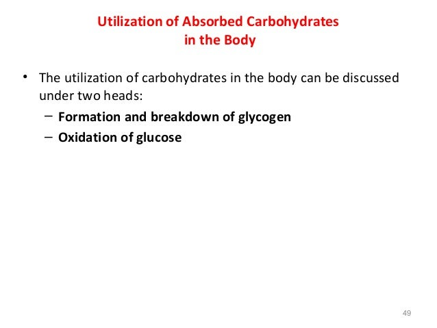 role of carbohydrates in human nutrition 49 638