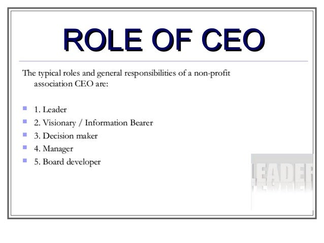 role of ceo