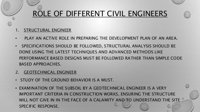 Role Of Civil Engineer In Disaster Management