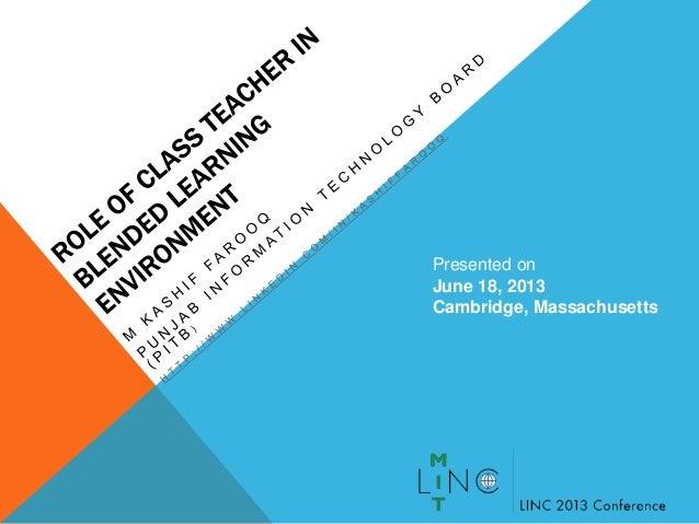 Presented onJune 18, 2013Cambridge, Massachusetts