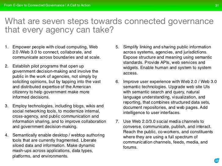 From E-Gov to Connected Governance | A Call to Action                                                        31     What a...
