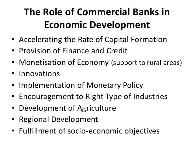 functions of development banks Development banks are those financial institutions engaged in the promotion and development of industry, agriculture and other key sectors.