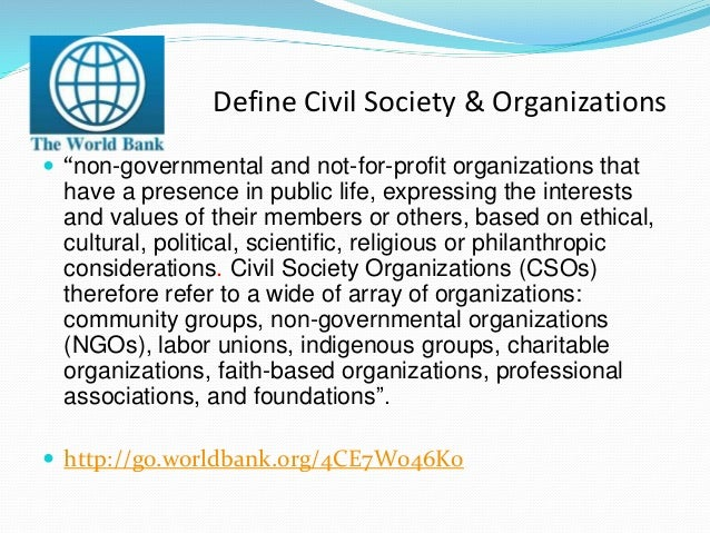 what is the role of civil society