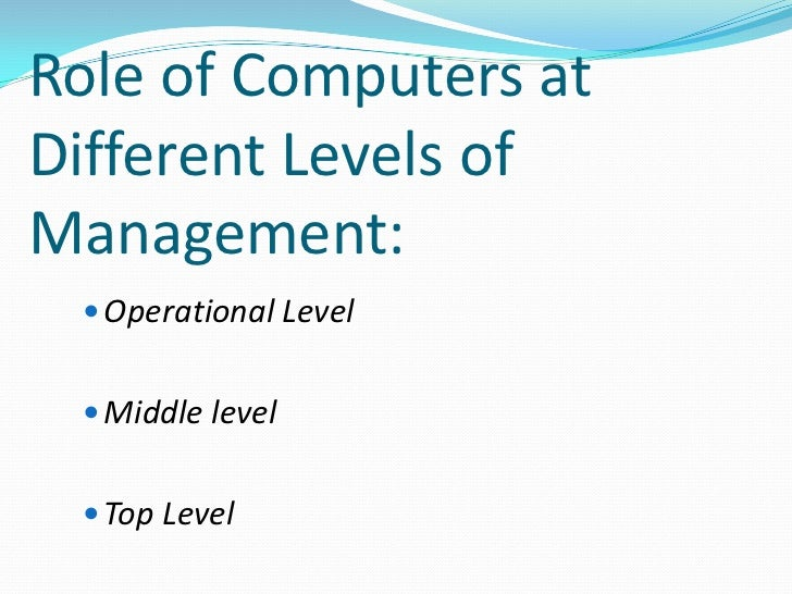 the roles and functions of computers in modern life Computers play a key role in almost every sphere of life computers function on levels close to many of the modern methods of scanning and imaging are.