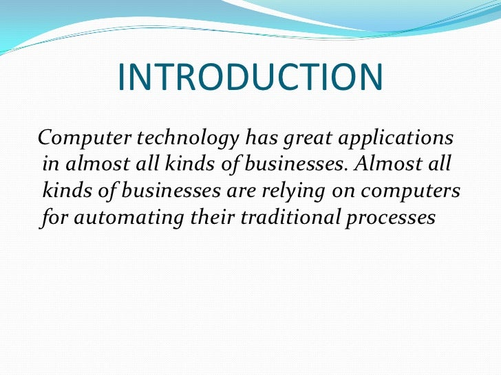 Role Of Computers In Business Organisation
