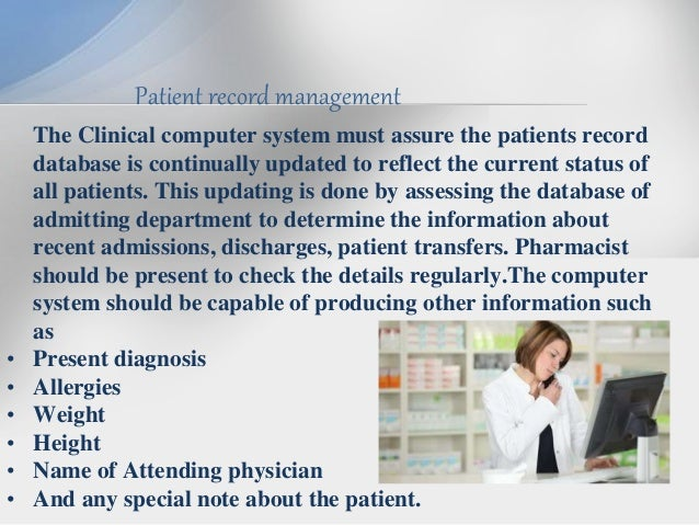 Clinical record keeping software
