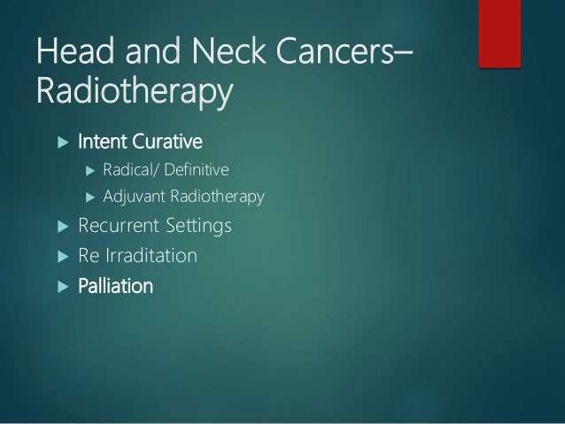 Role of Conformal Radiotherapy in HNC Slide 3