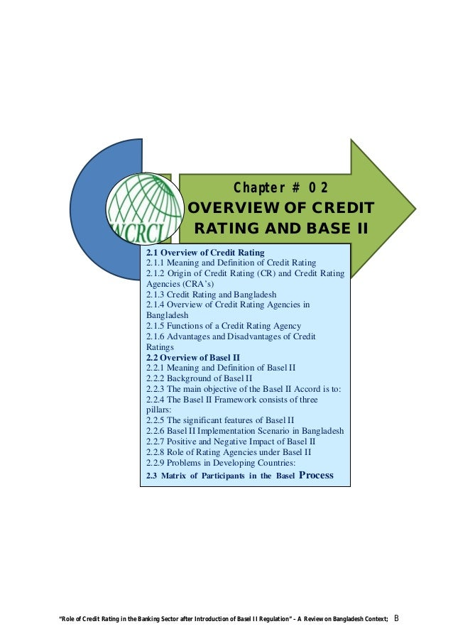Role of credit rating in the banking sector after ...