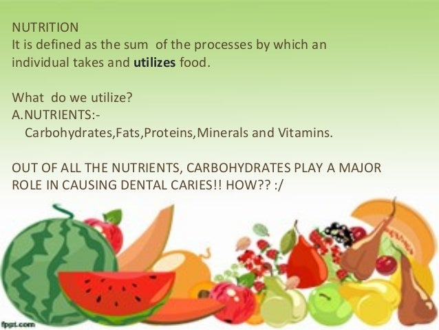 Role of diet and nutrition in dental caries Slide 3