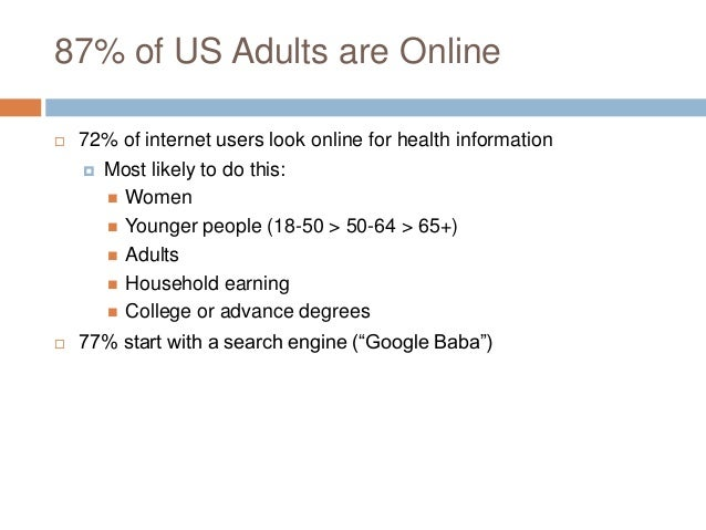 Social Media as Health Info Source Consumers surveyed reported that information found via social media would  Affect thei...