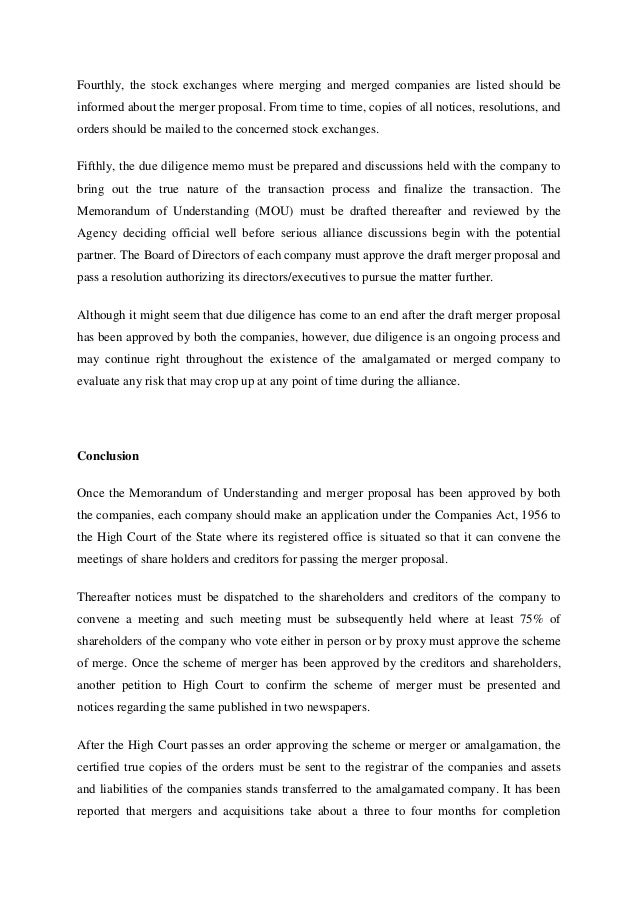 merger proposal template