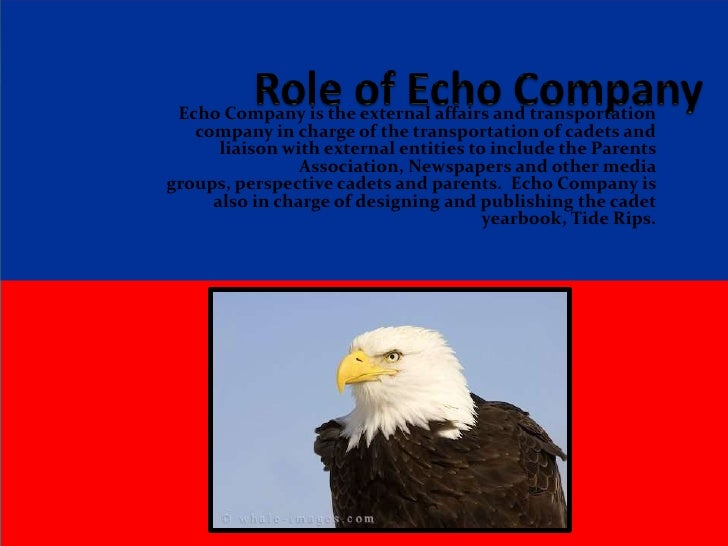 Role of Echo Company<br />Echo Company is the external affairs and transportation company in charge of the transportation...