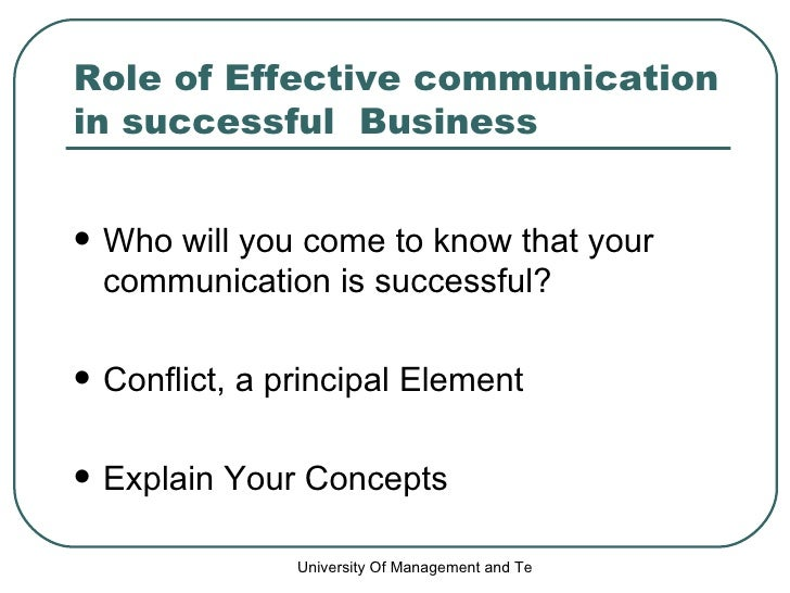 Role Of Effective Communication In Successful Business