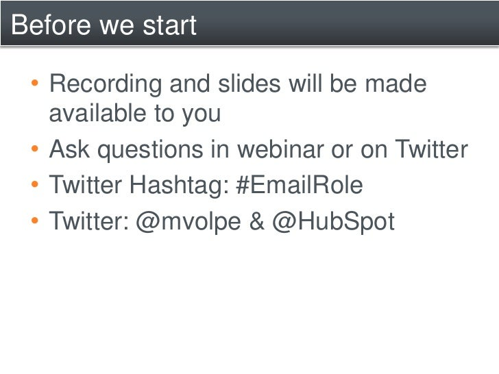 The Role of Email in an Inbound Marketing World Slide 2
