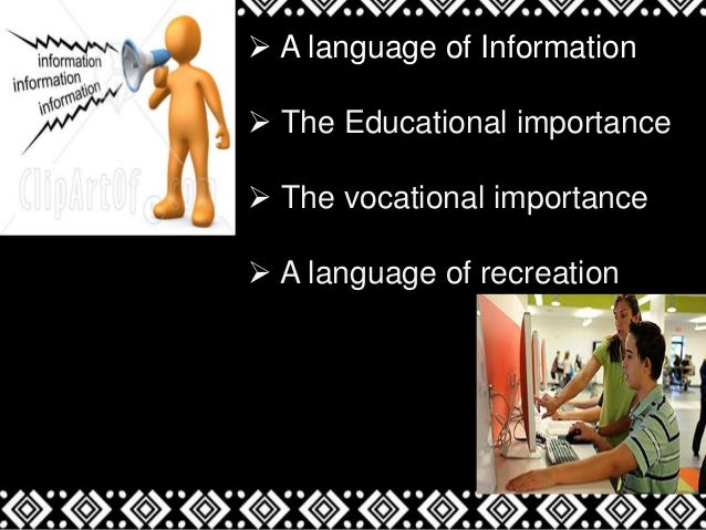 role of english in india Hence, the problem of teaching english as a second language , to the indian students starts from the pre-schooling further environment and family background play vital role in success of learning.