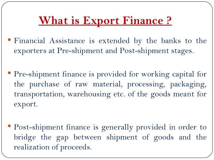 Financial Facilities