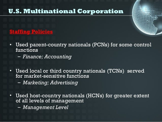 multinational corporation and country nationals