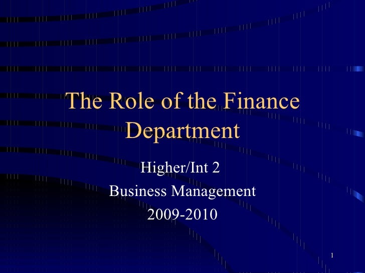 the role of the finance department Financial manager: job description  for more information, see our accountant job description, as well as the finance sector of targetcareers,.