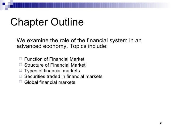 role of financial institutions and the The freezing of financial markets and collapse of financial institutions that sparked our investigation are not just a matter of numbers on a balance sheet  today we will explore the role of.