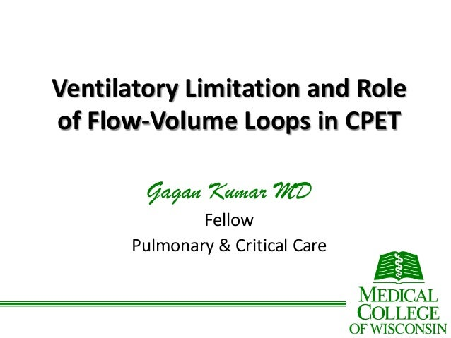 Ventilatory Limitation and Role of Flow-Volume Loops in CPET Gagan Kumar MD Fellow Pulmonary & Critical Care