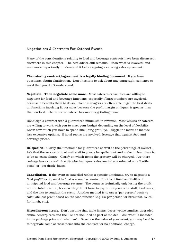 Catering Contract Agreement. Catering-Contract-Agreement Sample