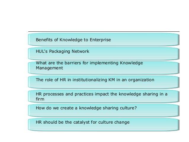 Benefits of Knowledge to EnterpriseBenefits of Knowledge to Enterprise HUL's Packaging NetworkHUL's Packaging Network What...