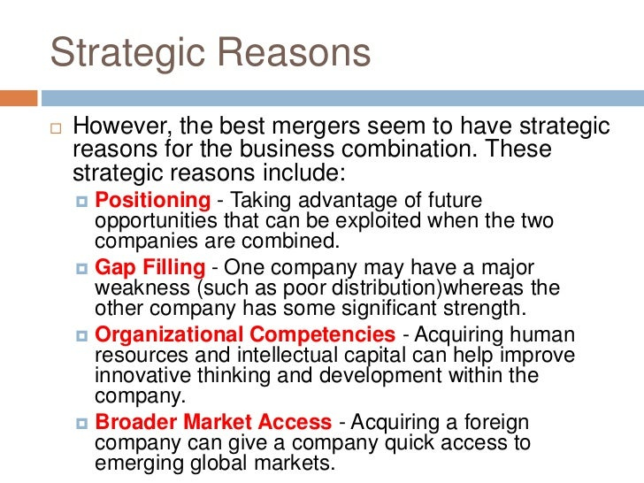 Why Mergers and Acquisitions fail?