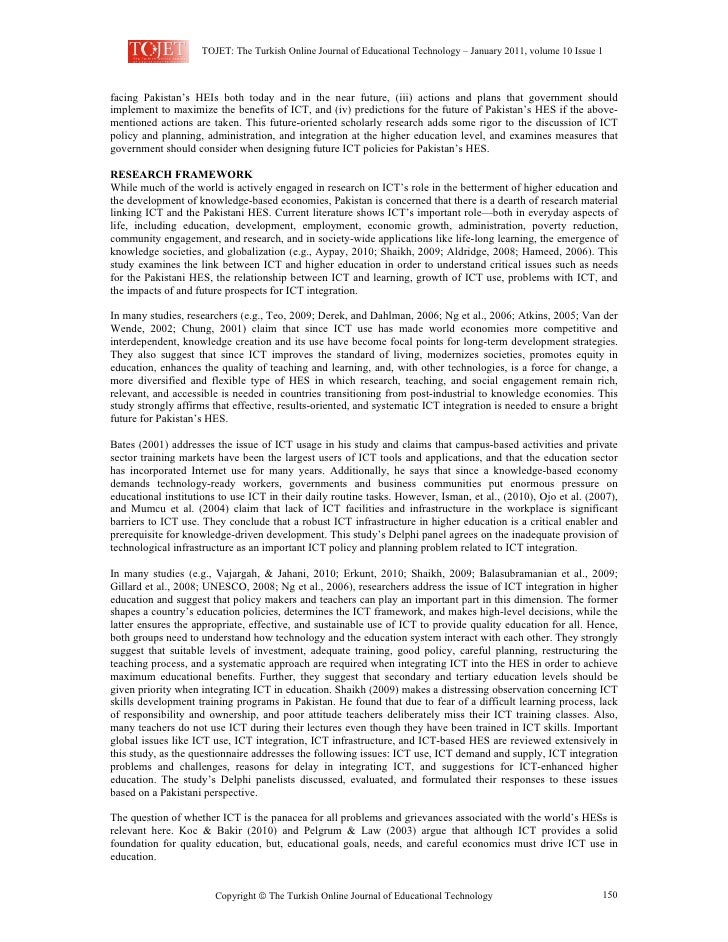 TOJET: The Turkish Online Journal of Educational Technology – January 2011, volume 10 Issue 1facing Pakistan's HEIs both t...