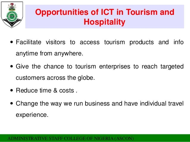 The Role of ICT in the Tourism Industry