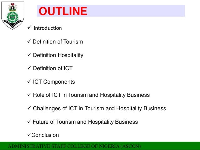 e tourism the role of ict Ict industries and e-business national information event on ict and entrepreneurship national documentation centre tourism telecoms when it comes to process innovation the role of ict is even higher eg.