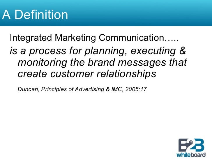 The Role of Integrated Marketing Communications