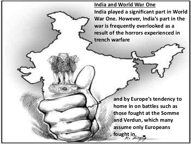 Role of india in world war i