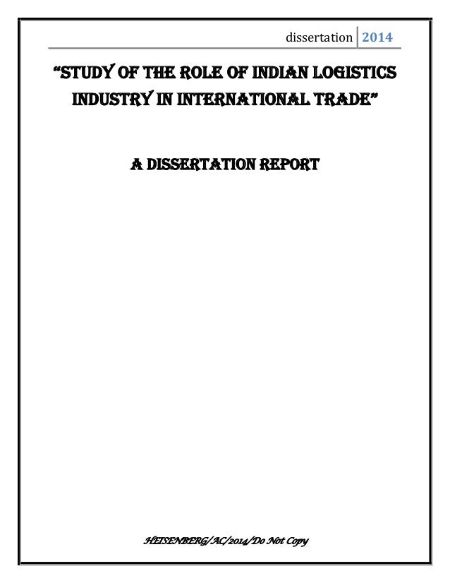 Umi order dissertation