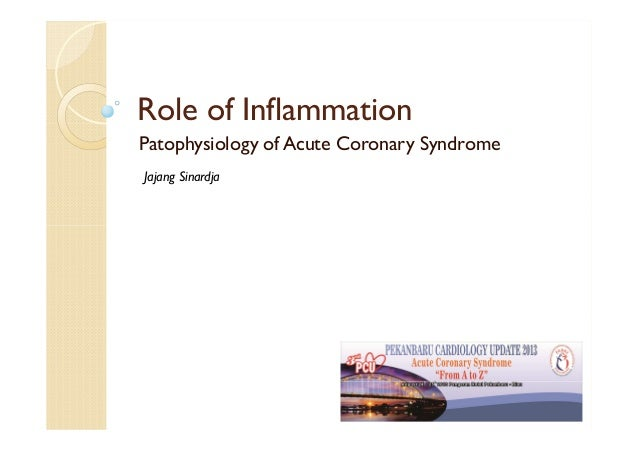 Role of Inflammation Patophysiology of Acute Coronary Syndrome Jajang Sinardja