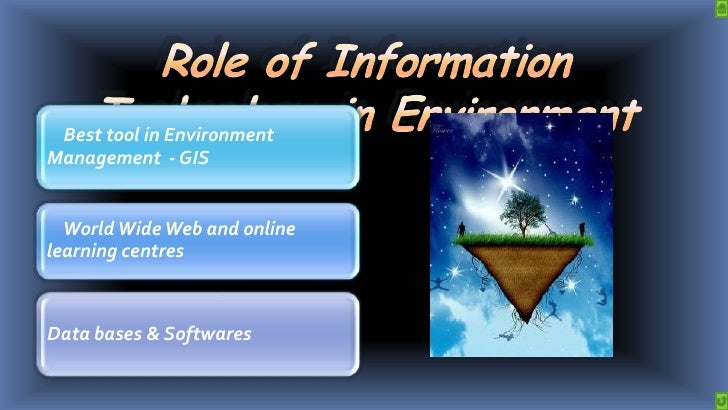 role of information technology in environment and human health