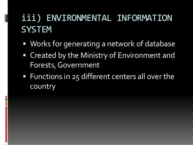 Role of information technology in environmental science