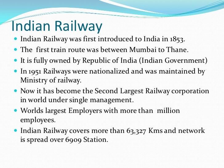 essay on railway