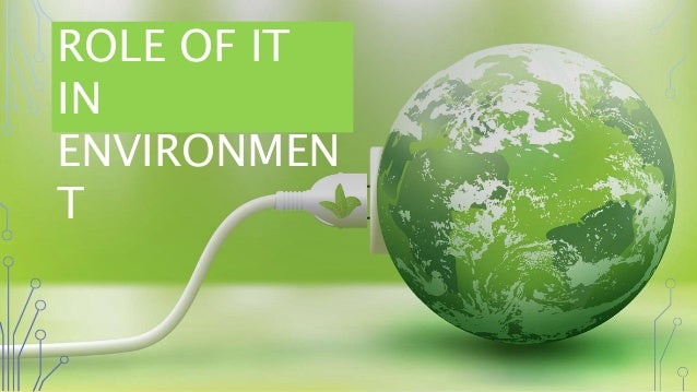 role of information technology in environment pdf
