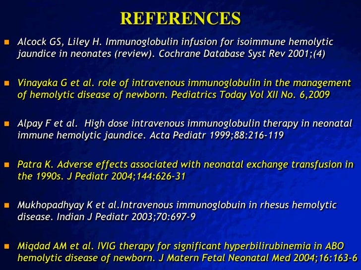 Role Of Ivig In The Management Of Neonatal Isoimmune