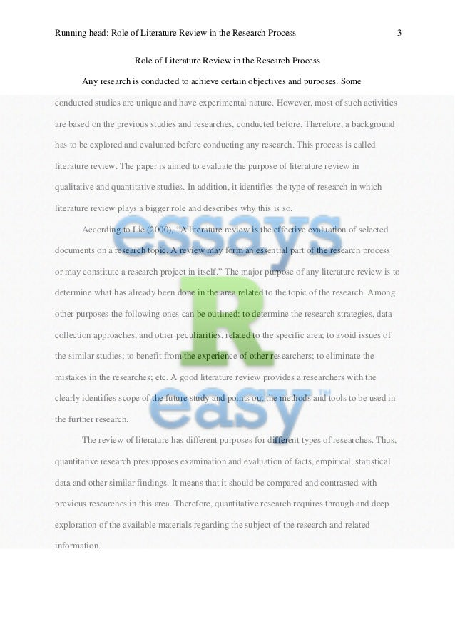 the role of literature review