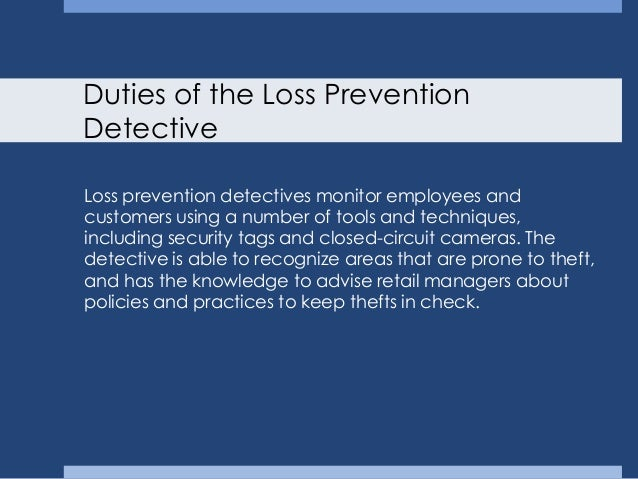 what is a loss prevention officer referencecom. 25 onsite duties ...