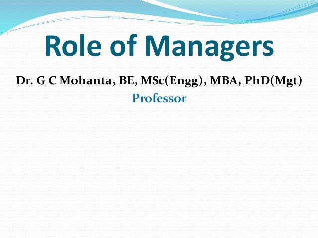 the role of managers Managers should almost never play a role on a scrum team where that manager conducts performance appraisals for anyone on that scrum team doing so is a huge risk to the roles of scrum, as well as the self organizational nature of scrum teams.