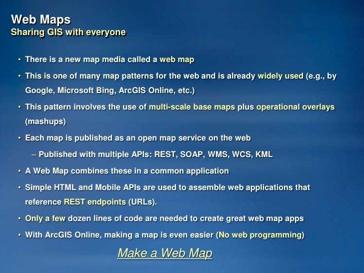 The Role of Maps in GIS