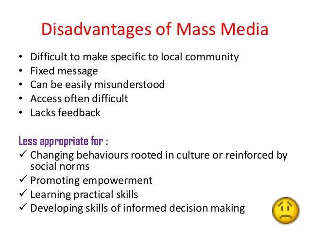 disadvantages of mass media essays