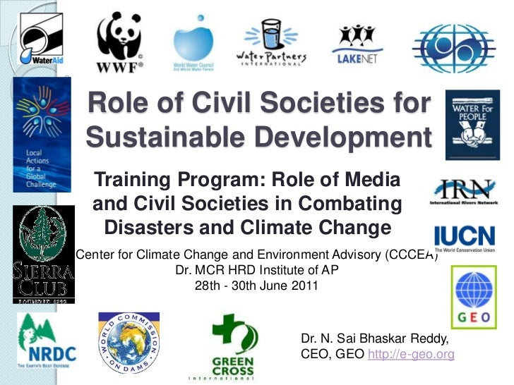 Role of Civil Societies for Sustainable Development<br />Training Program: Role of Media and Civil Societies in Combating ...