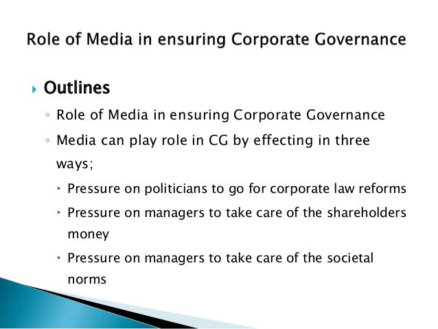role of media in corporate governance 8 638